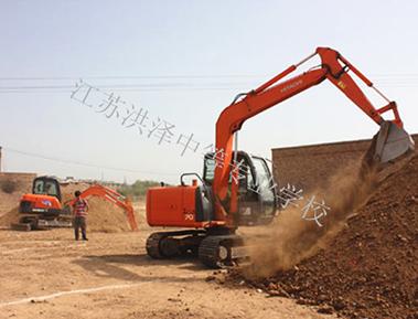 挖掘机实训场地